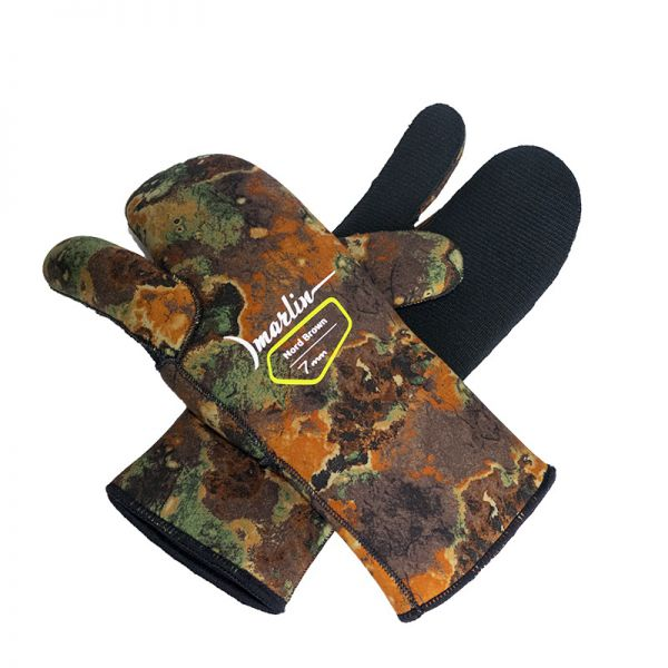 Перчатки трехпалые Marlin Nord Brown 7 мм
