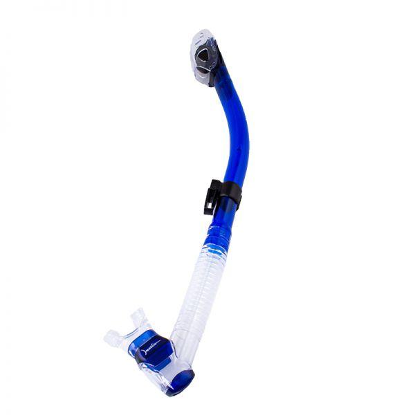 Трубка Marlin Dry Lux blue/clear прямая гофра