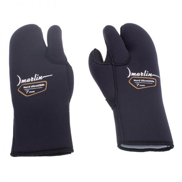Перчатки трехпалые Marlin Nord Ultraglide Black 7 мм