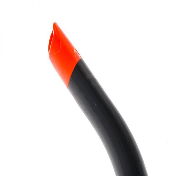 Трубка Marlin Flash Black/orange прямая гофра
